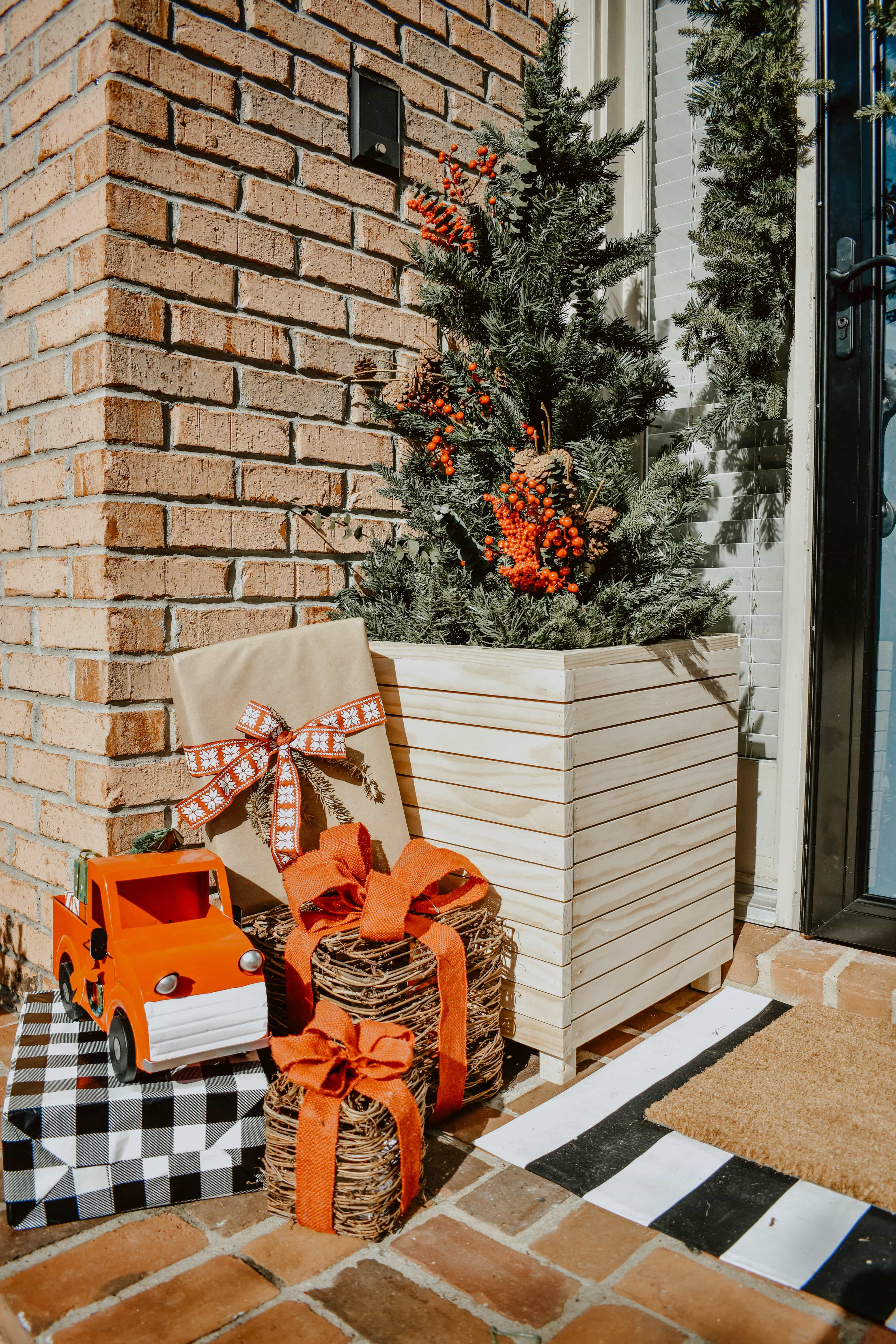 Home Depot Style Challenge Modern Christmas Front Porch